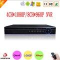 Nuevo Chip Hisi XMeye APP Azul Caso 4CH 1080 P Onvif Cámara IP NVR 8CH 960 P Grabador de Video Vigilancia envío Gratis