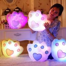 Kawaii Star Pillow Color Change Luminous Pillow with Led Light Soft Stuffed Animals Doll Toys for Children YH336 promotion 35 38cm kawaii star pillows led luminous pillow soft plush pillow cushion stuffed animals doll kids toys panda