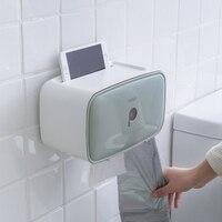 Simple creative plastic toilet tissue box toilet toilet paper from punching paper tube waterproof paper towel racks