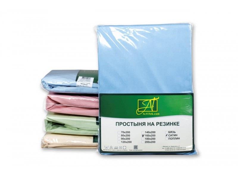 Bed Sheet АльВиТек, 90*200 cm, Blue цена и фото
