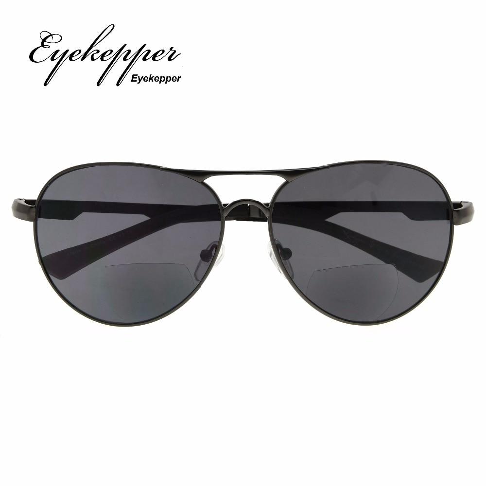 2659e174873e PGSG803 Eyekepper Polycarbonate Polarized Bifocal Sunglasses Pilot Style Bifocal  Sun Readers Outdoor Reading Glasses +1.50~+2.50-in Reading Glasses from ...