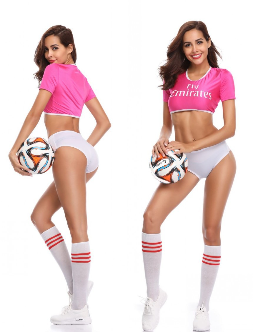 2019 Football Cup Arab Football Cheerleading Clothes Football Night Club Girl Cheerleader Costumes DS Performance T Shirt Shorts