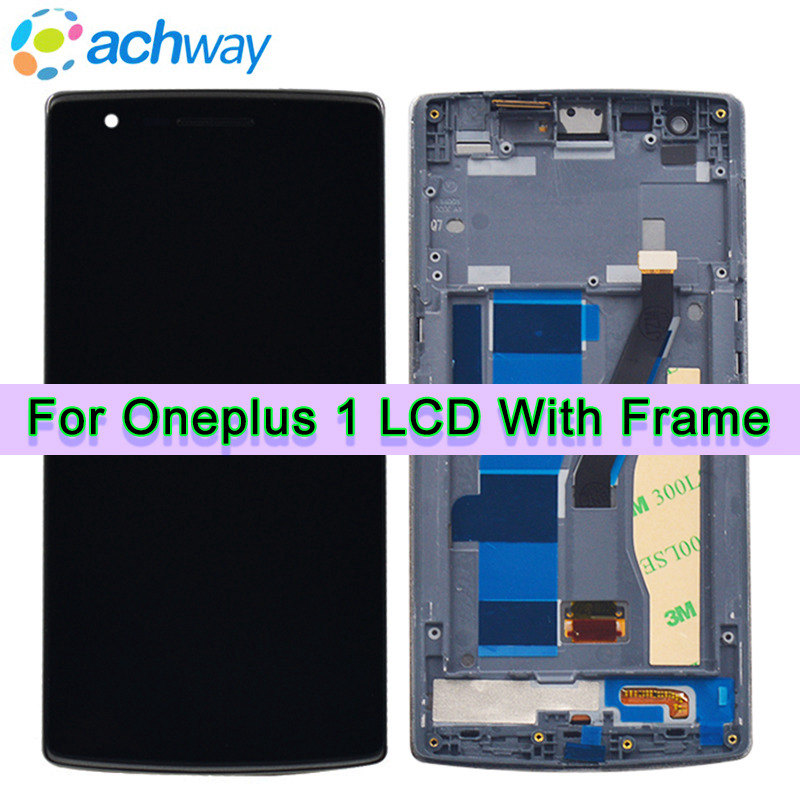 One Plus Oneplus 1 LCD Display Touch Screen Digitizer Assembly With Frame For 5.5