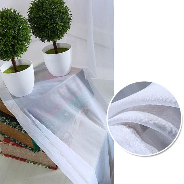 Bianco Puro Tenda Della Finestra Della Decorazione di Alta Filo Moderna Voile Tende Pannello di Lusso di Colore Solido Tende di Tulle (Singolo pannello)