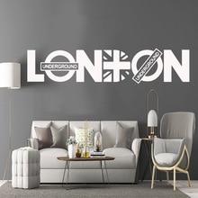 3D London Sticker Flag Frase Vinyl Wall Decals Wallpaper For Office Room Stickers Living Mural наклейка лондон