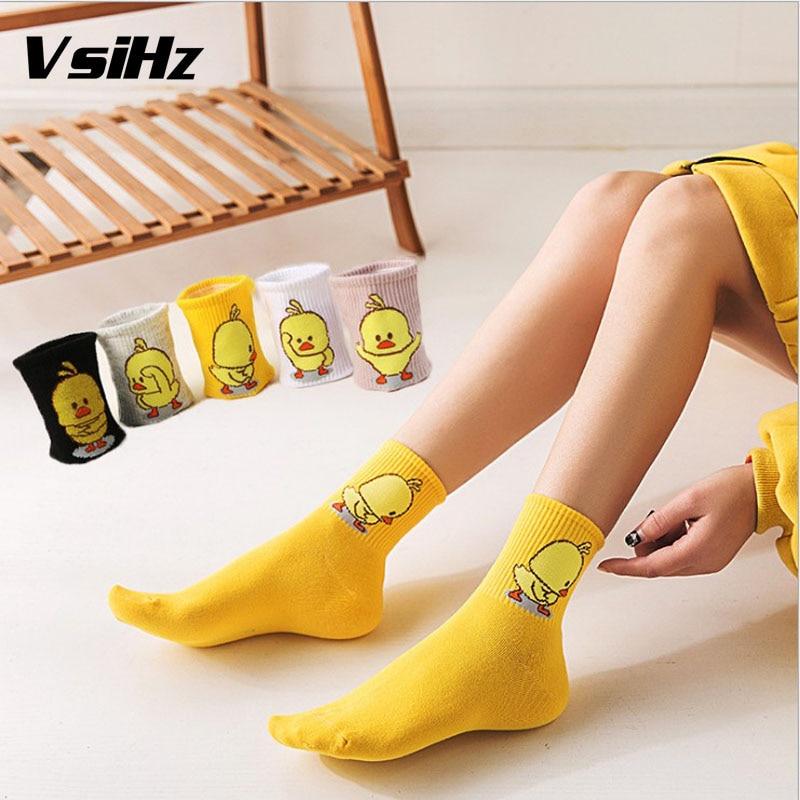 Cartoon Cute Animal Duck Pattened Women Short   Socks   Fashion Cute Funny   Socks   Female Casual Cotton Ankle   Socks   Harajuku Sox