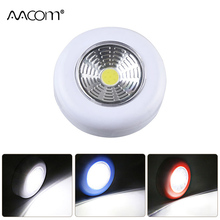 Portable Cordless LED Under Cabinet Lights PIR Motion Sensor AAA Battery Powered LED Night Light Touch Switch Pocket Lamp