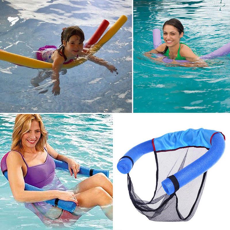 Rede de Macarrão de Espuma Flutuante para Piscina Suporte para Nadar Equipamento para Natação Nova Poltrona Crianças 60x150cm