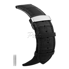 Pelle watch strap leather 20mm 22mm 24mm 26mm Alligator Replacement Leather Watch Band Soft Leather watchband все цены