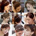 Wholesale Fine Crystal Hairpin South Korea Pearl Hair Hoop Head Band Han Edition Head Detain Jewelry By Hand August 23