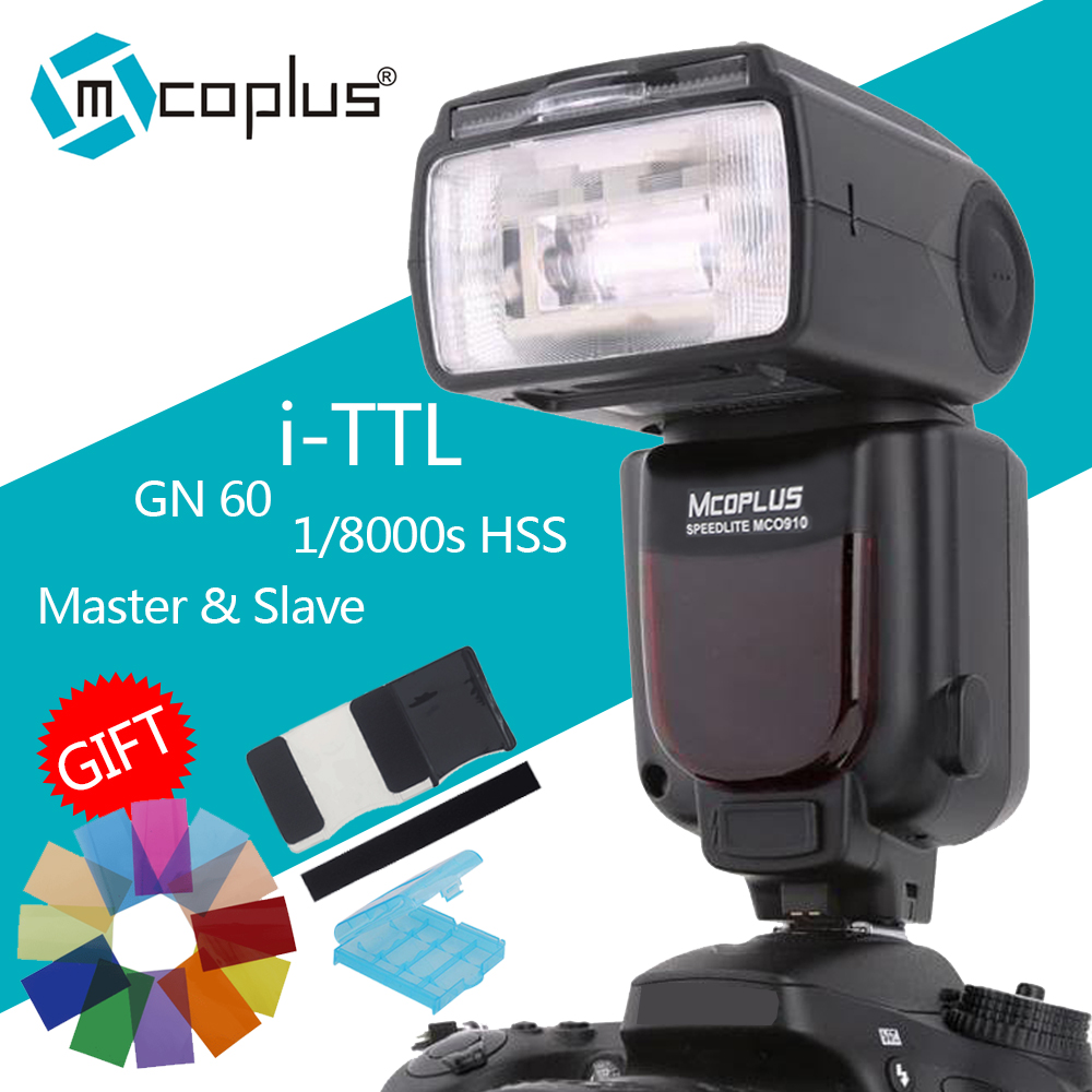 Mcoplus MCO-910 TTL 1/8000s HSS Sync flash speedlite for Nikon D7100 D3400 D5300 D7200 D3300 D3200 D5200 SLR camera as MK 910Mcoplus MCO-910 TTL 1/8000s HSS Sync flash speedlite for Nikon D7100 D3400 D5300 D7200 D3300 D3200 D5200 SLR camera as MK 910