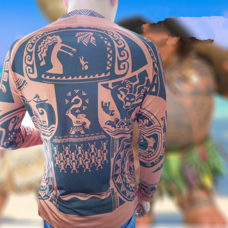 Adult Man Halloween cosplay Maui Tattoo Cosplay Sweatshirt Top or pants outfit