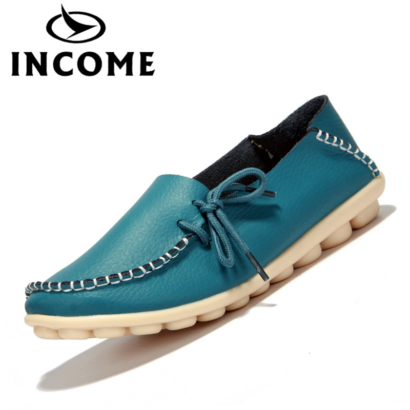 INCOME split leather women flats shoes female casual shoes loafers slip on soft leather black casual flat handmade shoes DB006 wdzkn flower print women casual shoes slip on flats hollow out soft split leather women loafers big size ladies shoes 35 42