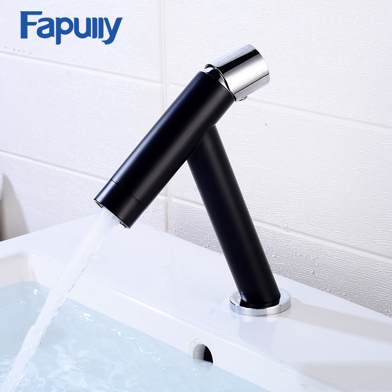 Fapully Basin Faucets Brass Bathroom Sink Faucet Black Chrome Gold Fashionable Basin Faucet Hot and Cold Mixer Basin Tap 1073Fapully Basin Faucets Brass Bathroom Sink Faucet Black Chrome Gold Fashionable Basin Faucet Hot and Cold Mixer Basin Tap 1073