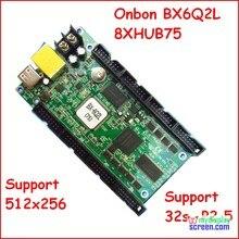 Onbon bx-6Q2L,ethernet, Puerto rj45, tamaño de control 512*256, soporte 8 X HUB75, async fullcolor controlador de pantalla led, p3,p2.5