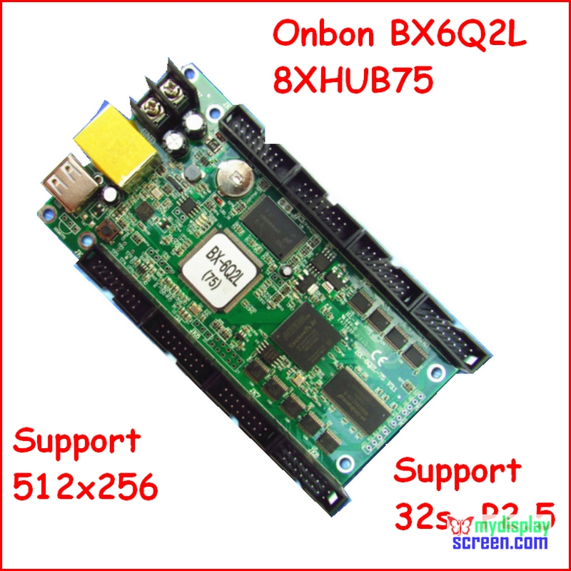 Onbon Bx-6Q2L,ethernet, Rj45 Port, Control Size 512*256,support 8 X HUB75, Async Fullcolor Led Display Controller, P3,p2.5