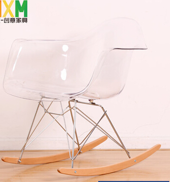 MAV Furniture Modern Designer Iconic Plastic Clear/Transparent Rocky Chair,  Free Shipping By China