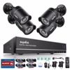 SANNCE 8CH 1080N DVR 720P CCTV System 4pcs 720P 1MP Security Cameras IR Outdoor IP66 Video