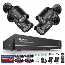 SANNCE 8CH 1080N DVR 720P CCTV System 4pcs 720P 1MP Security Cameras IR outdoor IP66 Video Surveillance kit motion detection(China)