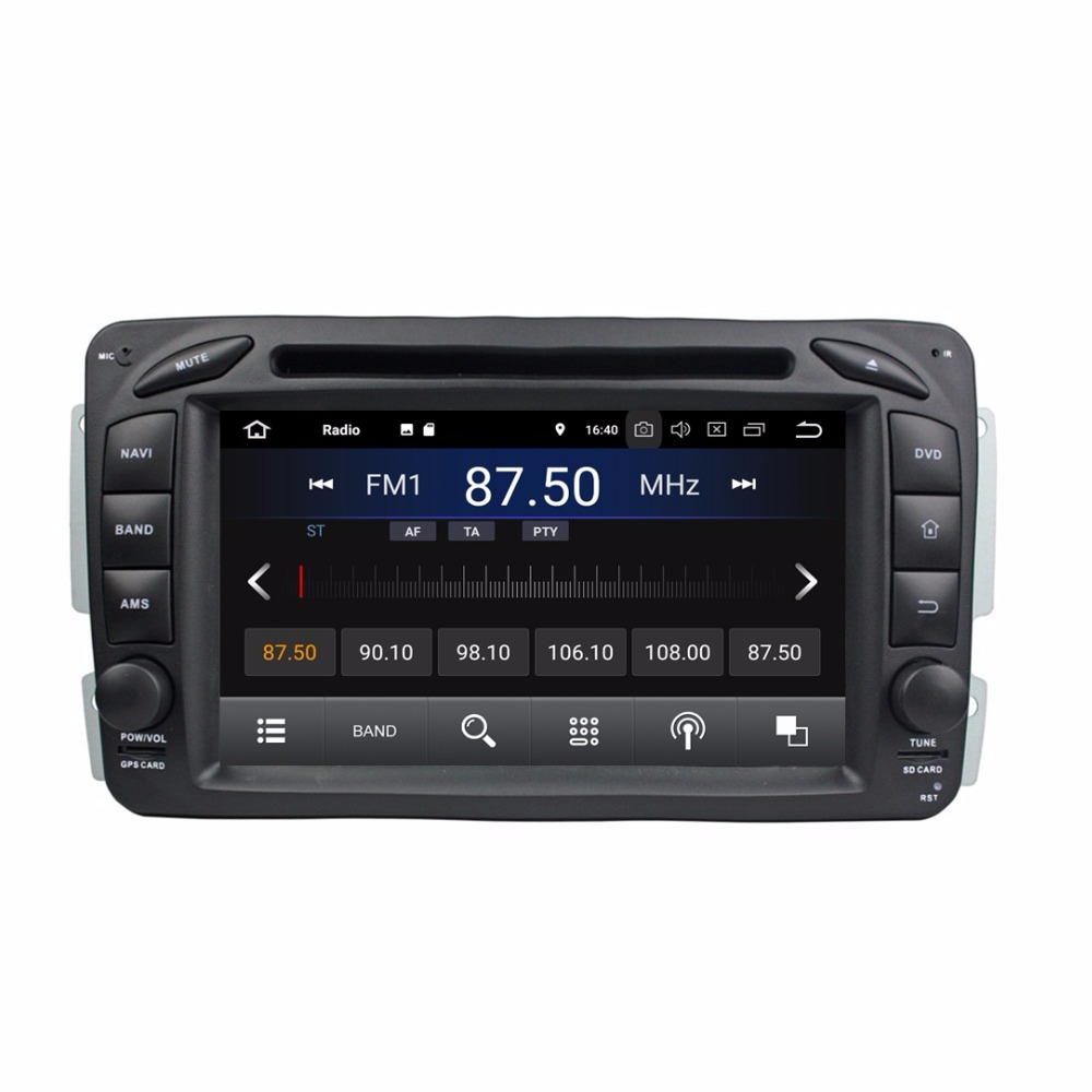 7 Android 8.1 Car Radio DVD GPS Head Unit for Mercedes Benz ML W163 CLK W209 C Class W203 SLK W170 E Class W210 A Class W168