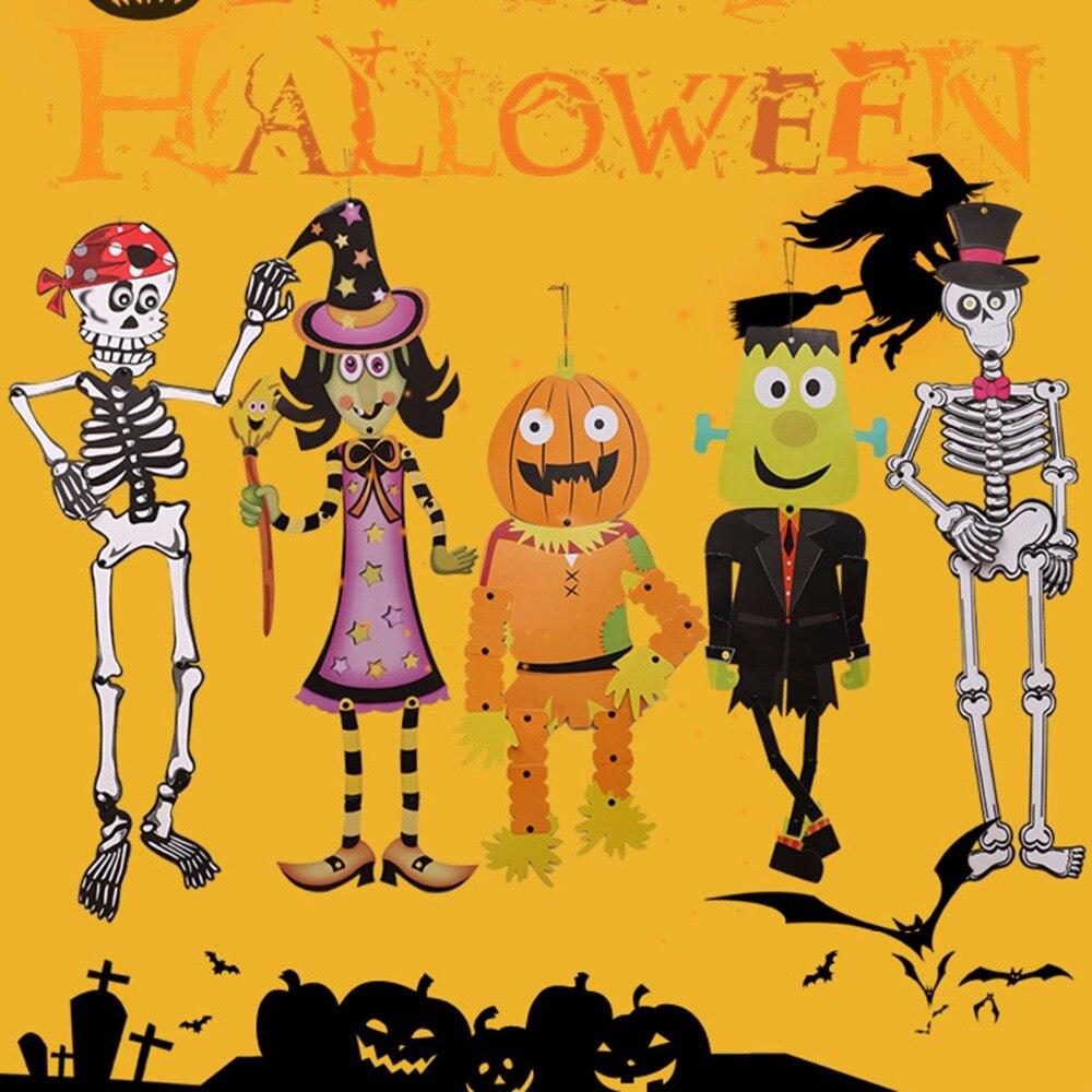 DIY Witch Ghost Pumpkin Man Skeleton Hanging Halloween