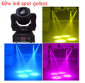 New 60w gobos spot led moving head light 7 colors 7 differnt stage spots light good for ktv wedding
