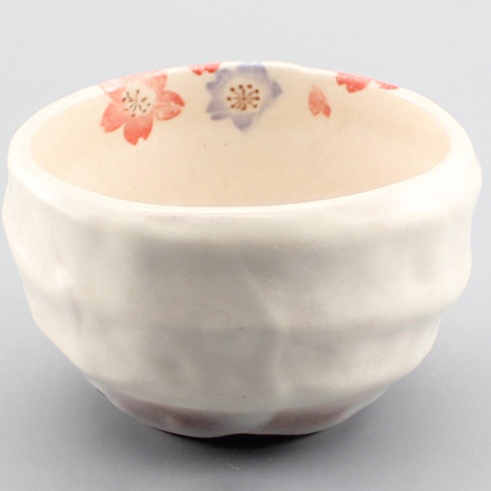 Ensemble de thé de Style japonais Sakura fait à la main poterie Matcha bol cadeau thé chine thé au thé japon Matcha cérémonie fouet bol ensemble cadeau Scoop