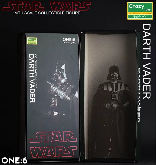 Fou Jouets 1:6 Star Wars Darth Vader PVC Figurines Collection Modèle Toy 26 cm