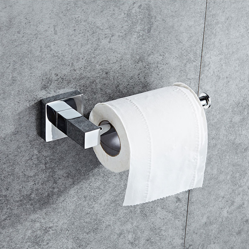 SRJ Bathroom Hardware Accessories 304 Stainless Steel Toilet Paper Holder Towel Rack Bathroom Toilet Roll Paper Storage Rack