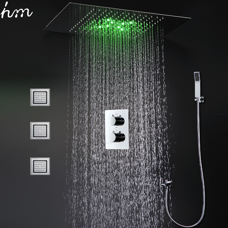 Bathroom Products Modern Ceiling Rain Shower Concealed Led Shower