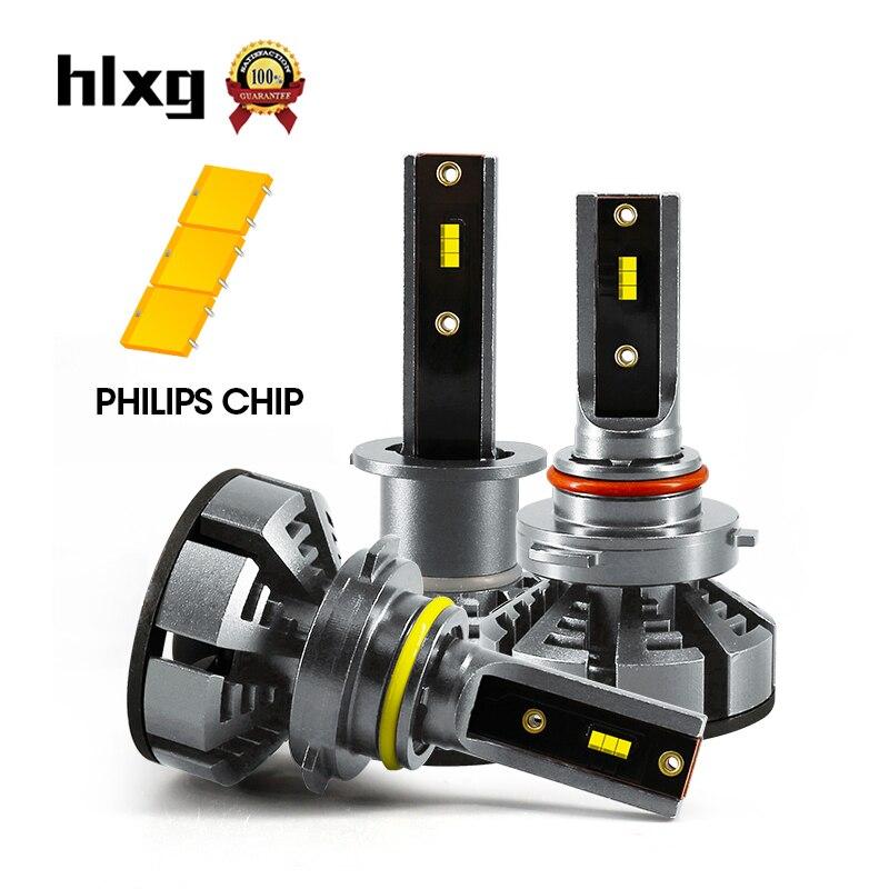 hlxg 2pcs mini h1 led h7 with philips chips 12000lm 72w. Black Bedroom Furniture Sets. Home Design Ideas