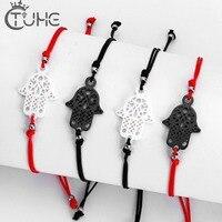 100pcs/Lot Hot Lucky Kabbalah Red String Thread Bracelets Amazing Price Ceramic Charm Women Handmade Fatima Friendship Jewelry