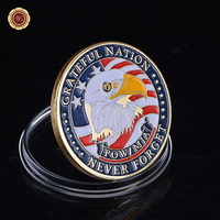 2015 Hot New 24K Gold Plated ARMY Coin Wholesale Royal Air Force Commemorative Custom Coin Fancy