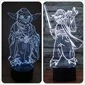 Star Wars Maestro Yoda 3D Lámpara de Mesa Luminaria Led de La Noche Interruptor Remoto de iluminación Decorativa Lámpara de estado de Ánimo gran regalo para niños