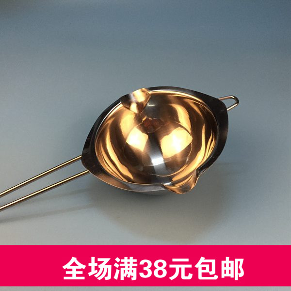 DIY water bath pot melting candle tool stainless steel pot with handle simple melting pot