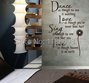 Wholesale New Arrival English Poem Wall Stickers For Rooms Wall
