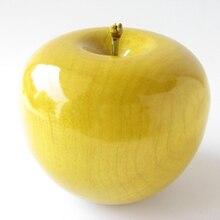 Высококачественное шелковое яблоко из цельного дерева, декоративное яблоко