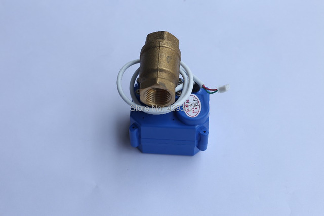 """High Quality Electronic Water Leak Detector with 1/2"""" Valve and 2pcs 6m Sensor Wires,Retail or Wholesale, Drop Shipping"""