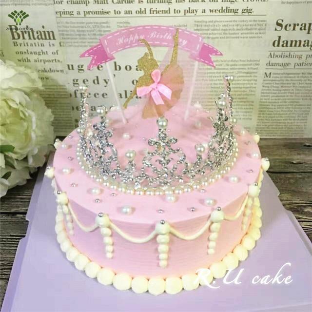 2pcs Ballet Girl Cake Toppers Birthday Cake Picks Birthday Wedding