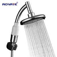 ROVATE Bath Large Hand Shower Head Power Nozzle Hydromassage Pressure Boost Water Saving Big Rain Showerhead Accessories