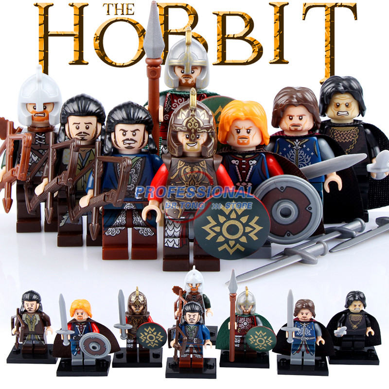 8PCS/LOT  PG8031  he Lord of the Rings rohan Mini Building Block Model Brick figures Toys hot sale the hobbit lord of the rings mordor orc uruk hai aragorn rohan mirkwood elf building blocks bricks children gift toys