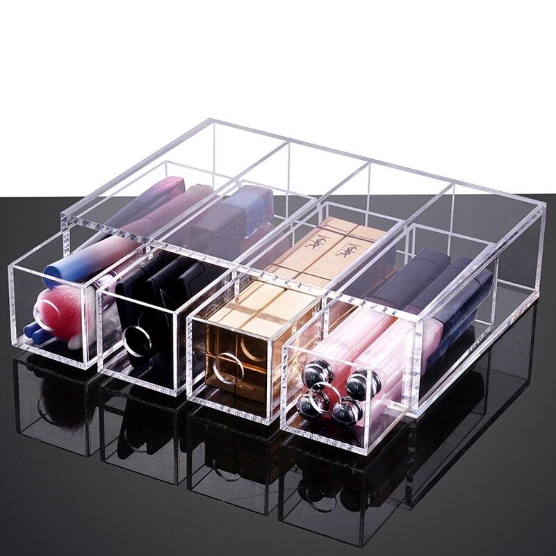 Étui de rouge à lèvres étui maquillage organisateur acrylique maquillage lunettes organisateur boîte de rangement pour lunettes boîte de rangement tiroirs organisateur
