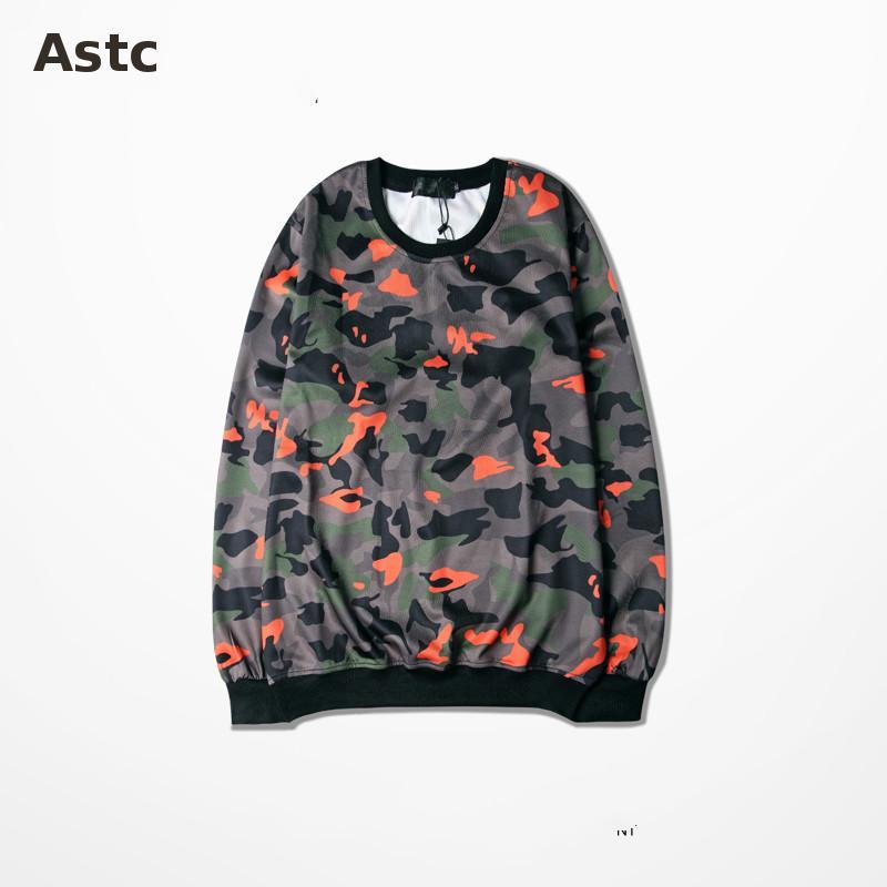 Camouflage Hoodie Autumn And Winter Thin Coat Out Door Outwear Pullover Sweatshirt Men Kpop Harajuku Hoodie