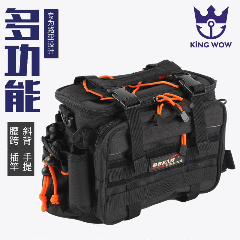 Fishing Bags Fishing tackle bag 29x22x18cm Multi-Purpose Waterproof Polyester Fishing Bag Carp Fishing Gear Lure Tackle Box