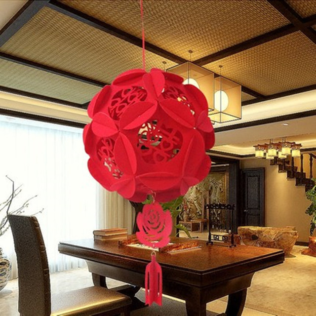 Chinese New Year Hanging Balls House Moving Red Lanterns TraditionalChinese Decorations 4