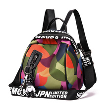 2019 new ladies Multifunction backpack high quality youth camo color girl casual large capacity Bags for women Oxford