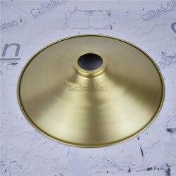 Bezpłatny statku M40mm D270mmX45mm materiał mosiężny pokrywa na światła miedziany kubek odcień jakości E27 klosz do lampy pokrywa oświetlenie mosiądz cień stożek w Klosze i abażury do lamp od Lampy i oświetlenie na