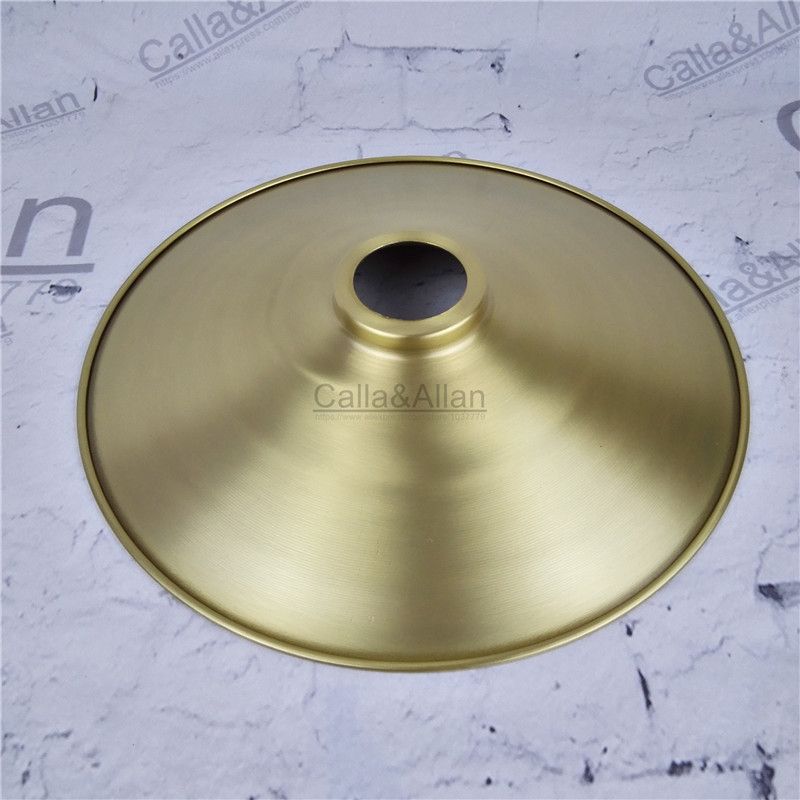 Free ship M40mm D270mmX45mm brass material light cover copper cup shade quality E27 lamp shade cover lighting brass shade cone