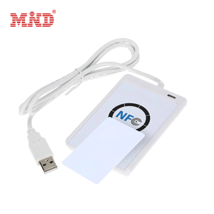 ACR122U RFID NFC smart card Reader Writer Copieur Duplicateur inscriptible clone logiciel USB S50 13.56 mhz ISO 14443