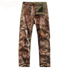 Мужские камуфляжные флисовые брюки TAD, водонепроницаемые ветрозащитные штаны из Акульей кожи, для активного отдыха, походов, скалолазания, ...